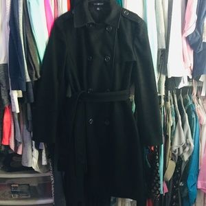 Gap Black Pea Coat Size XL